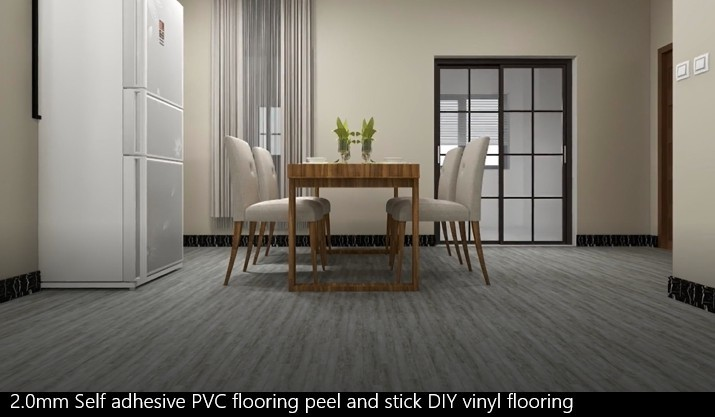 2.0mm Self Adhesive Pvc Flooring Peel And Stick Diy Vinyl Flooring