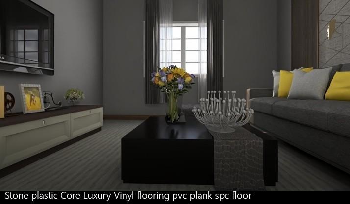 Stone Plastic Core Luxury Vinyl Flooring Pvc Plank Spc Floor