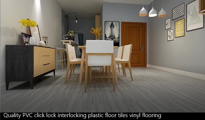 Quality Pvc Click Lock Interlocking Plastic Floor Tiles Vinyl Flooring