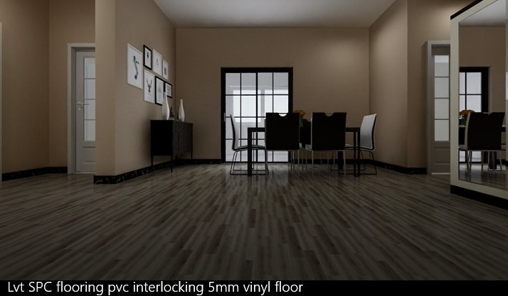 Lvt Spc Flooring Pvc Interlocking 5mm Vinyl Floor