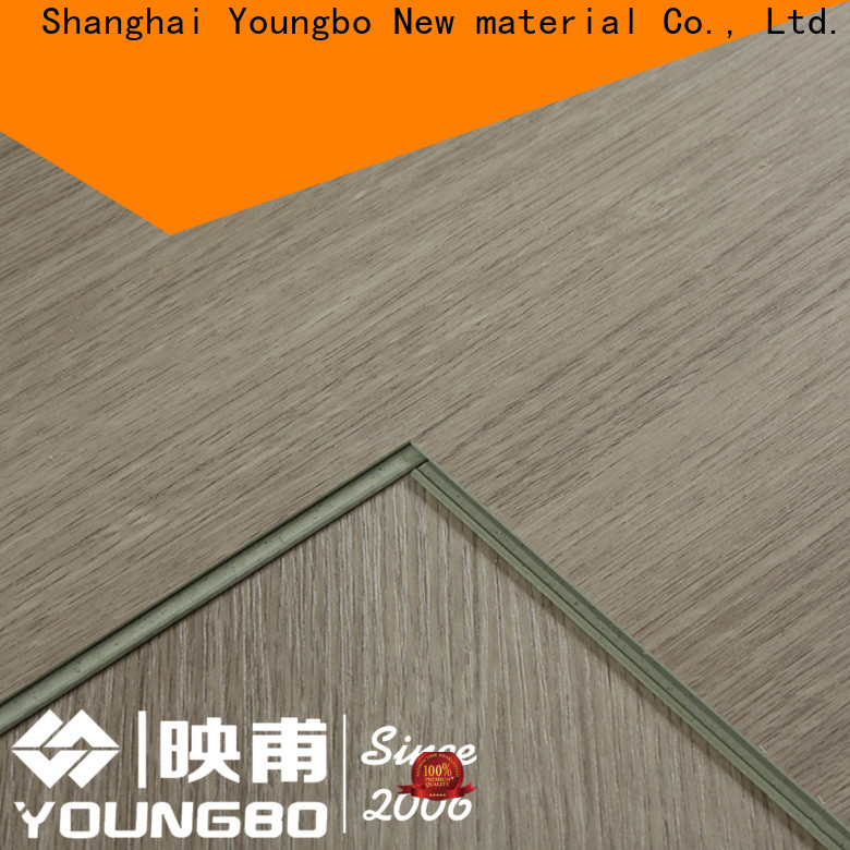 YOUNGBO kitchen locking vinyl plank flooring chinese manufacturer for dressing room