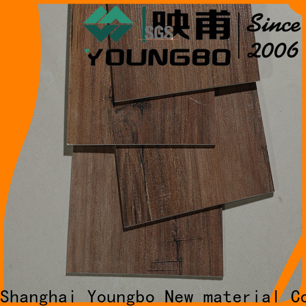 YOUNGBO 18mm floating vinyl flooring order now for bathroom usage