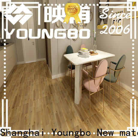 YOUNGBO cheap plastic flooring manufacturers wholesale for bedroom