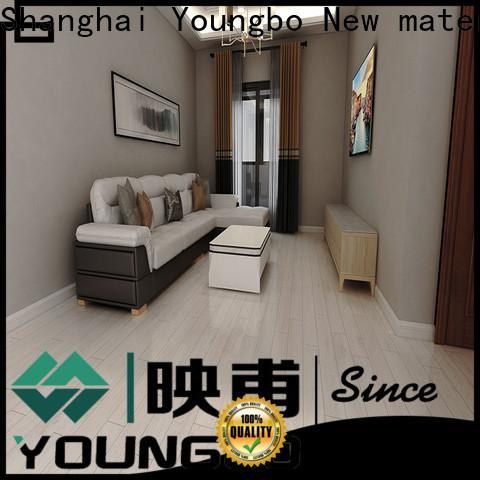 YOUNGBO pvc plastic flooring manufacturers for indoor