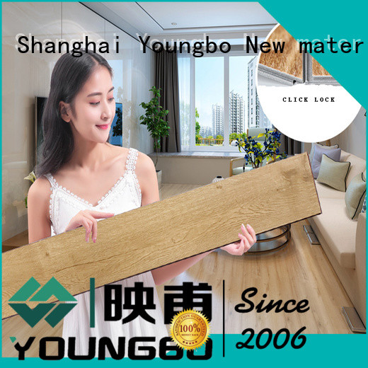 YOUNGBO cheap interlocking SPC flooring from China for dressing room