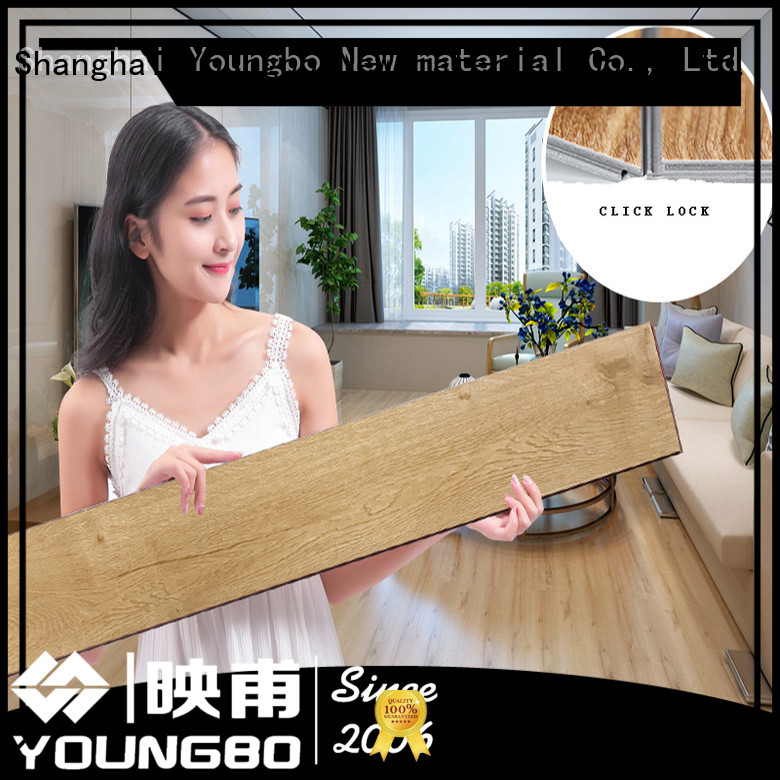 YOUNGBO grain interlocking SPC flooring chinese manufacturer for hospital