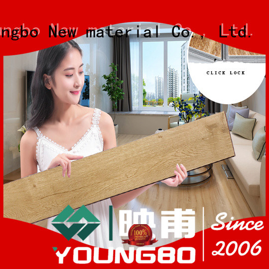 cheap vinyl locking flooring pad from China for for Indoor Residential
