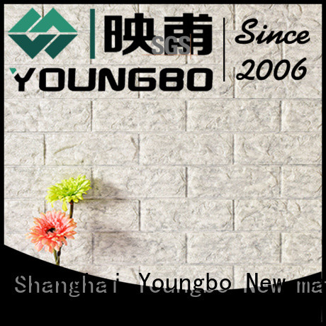 YOUNGBO newest 3d brick effect wallpaper with low price for kid's room