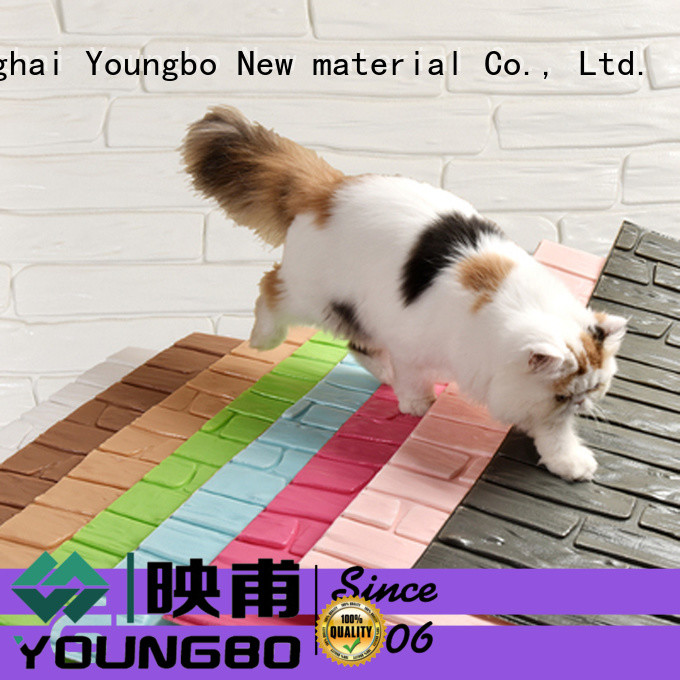YOUNGBO self brick look wallpaper request for quote for kid's room