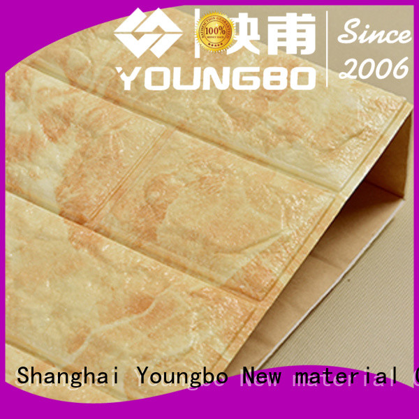 YOUNGBO backed self adhesive brick wallpaper with low price for home