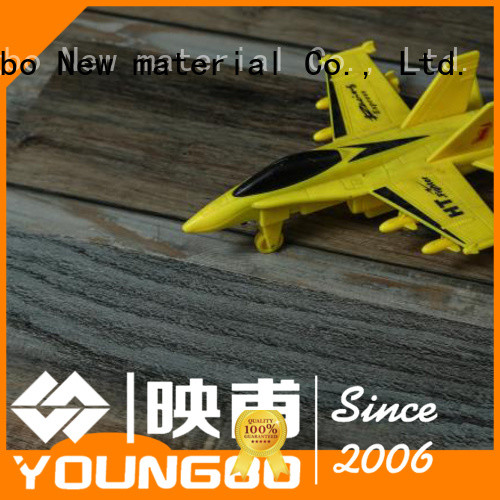 YOUNGBO vinyl locking floor from China for dressing room