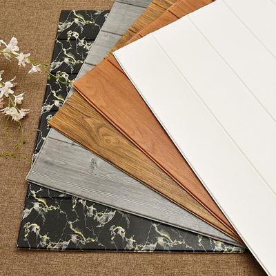 Wood Grain Foam Backed Wallpaper