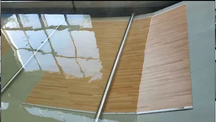Waterproof Vinyl Plank Flooring Cooling process