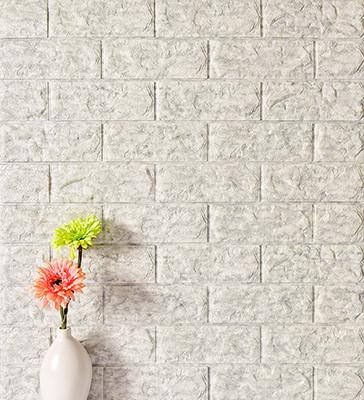 8mm Stone Color Foam Brick Wallpaper