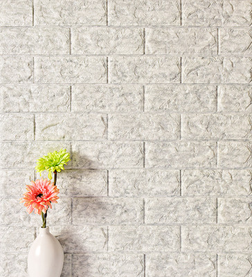 8mm Stone Color Foam Brick Wallpaper