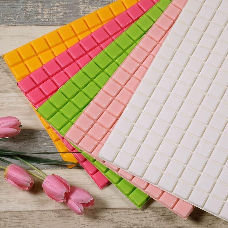 Mosaic Foam Red Brick Wallpaper