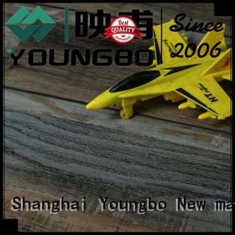 YOUNGBO pe interlocking SPC flooring manufacturer for dressing room