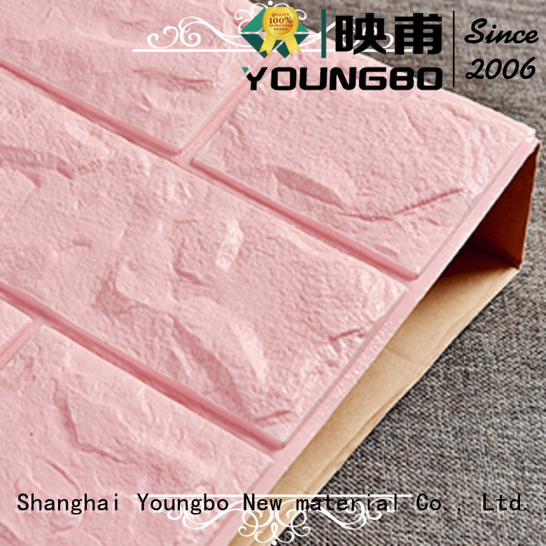 YOUNGBO good design brick look wallpaper chinese manufacturer for kid's room