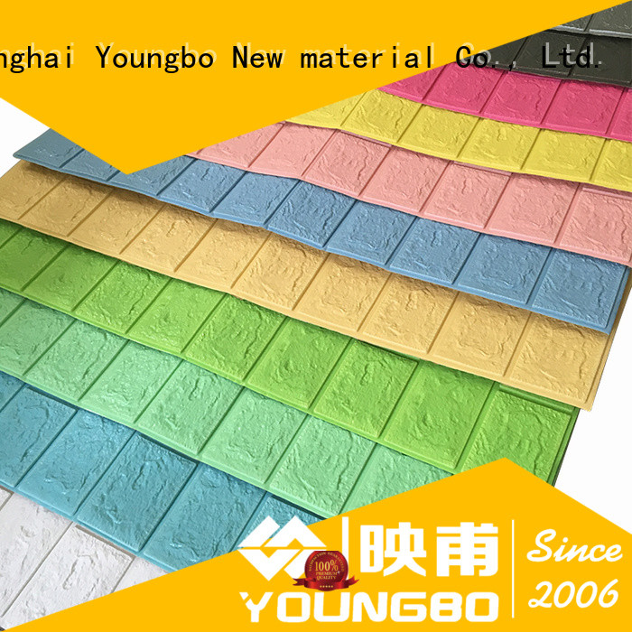 YOUNGBO mosaic 3d brick wall panels with low price for kid's room