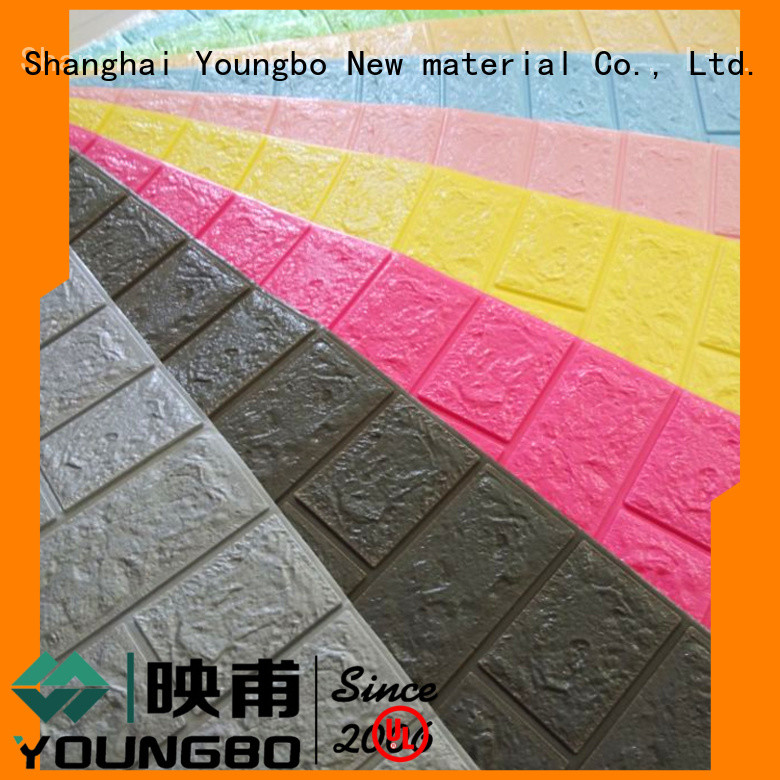 YOUNGBO reliable quality foam brick wallpaper for kid's room