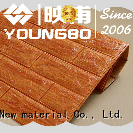 YOUNGBO adhesive 3d foam wallpaper for background