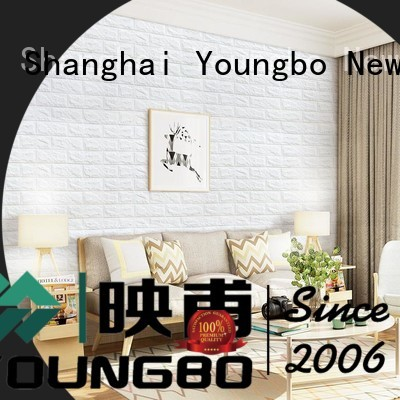 YOUNGBO stick foam faux brick wall covering wholesale for home decoration