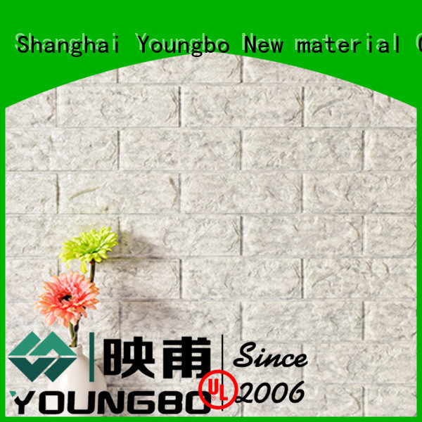 YOUNGBO 3d stone look wallpaper inquire now for background