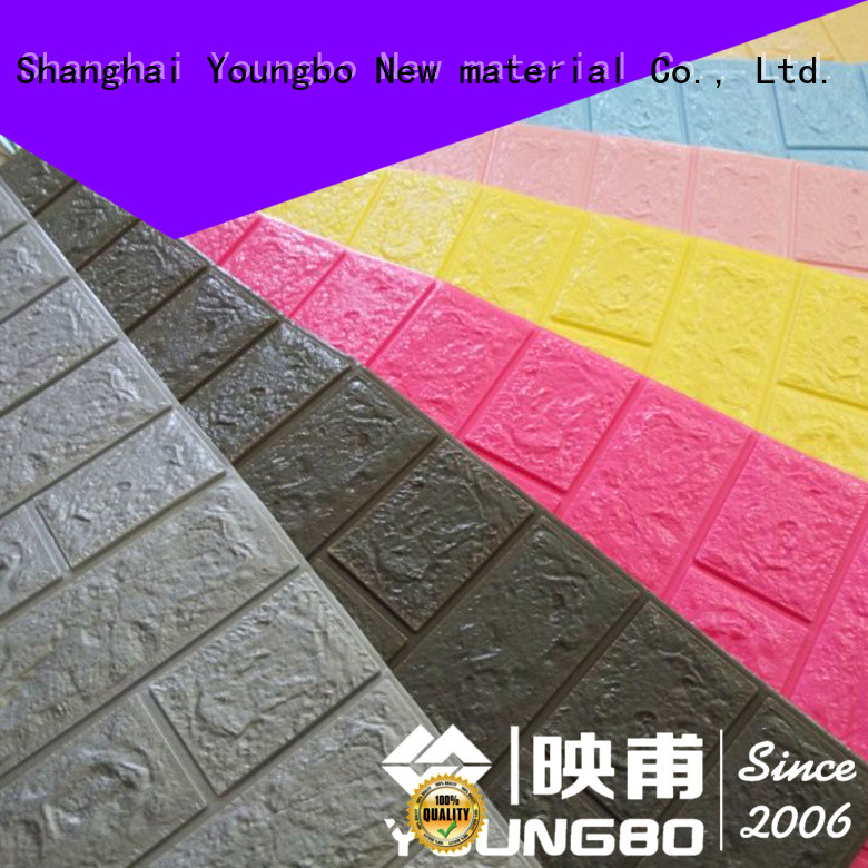 YOUNGBO newest 3d brick wallpaper chinese manufacturer for background