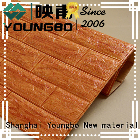 YOUNGBO peel faux stone wallpaper request for quote