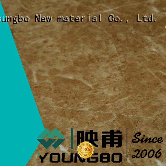 YOUNGBO vinyl locking flooring from China for for Indoor Residential