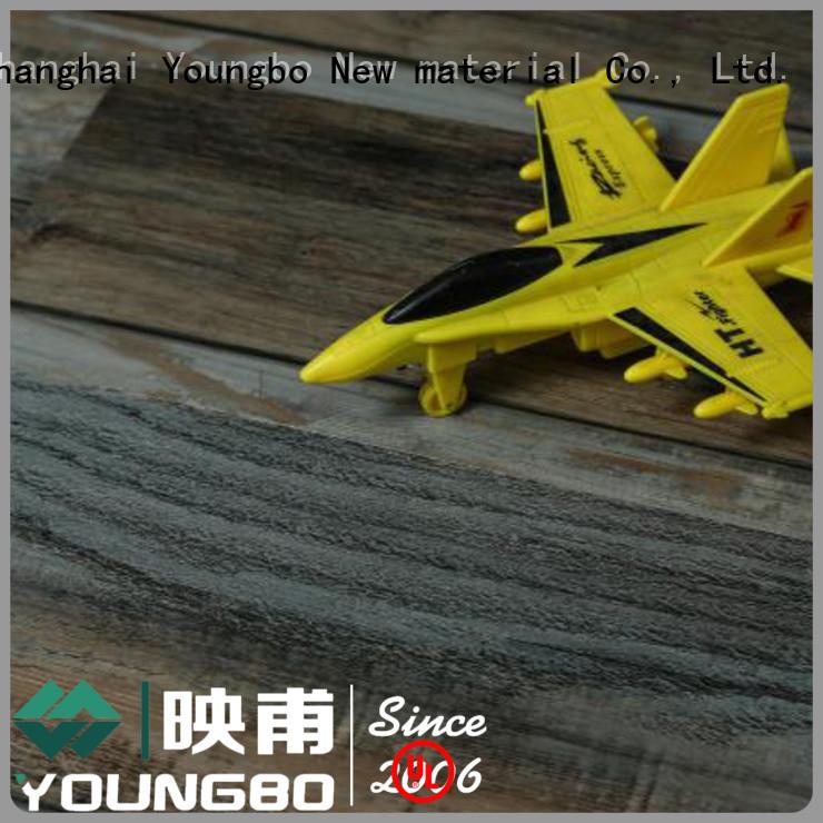 pe interlocking vinyl plank flooring manufacturer for dressing room YOUNGBO