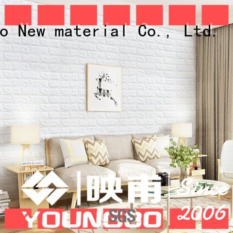 YOUNGBO good design foam backed wallpaper with low price for living room