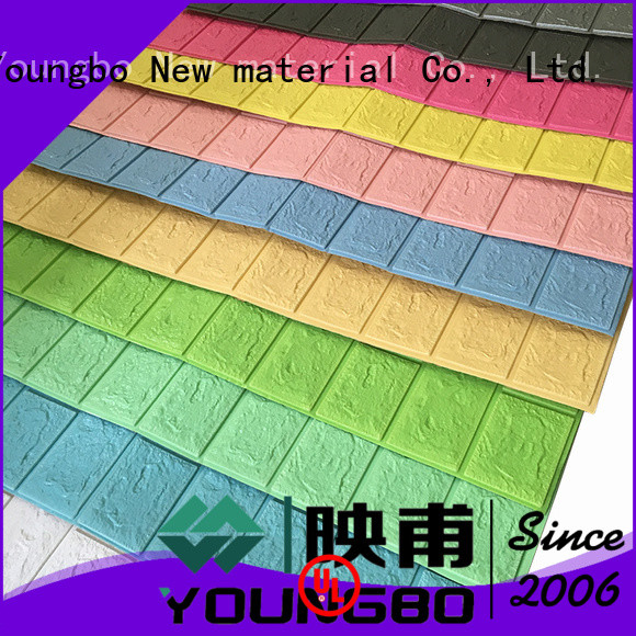 YOUNGBO stick textured foam wallpaper for background