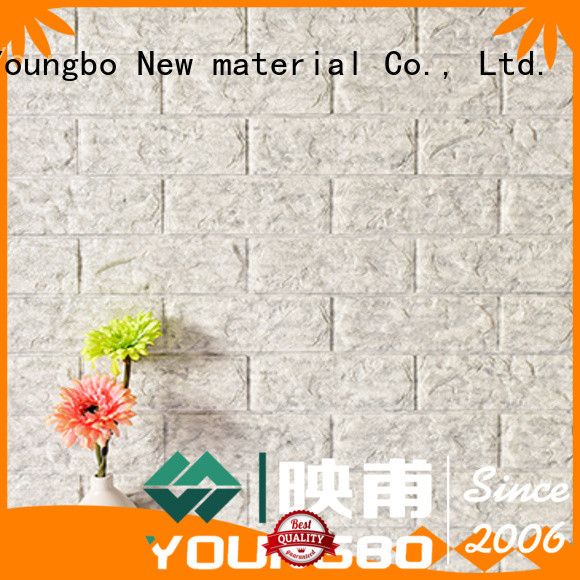 YOUNGBO foam 3d brick wallpaper request for quote for living room