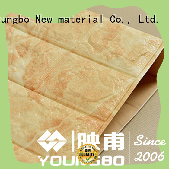 YOUNGBO foam adhesive brick wallpaper chinese manufacturer for home decoration