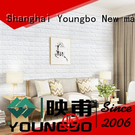 reliable quality stone brick wallpaper self with low price for living room