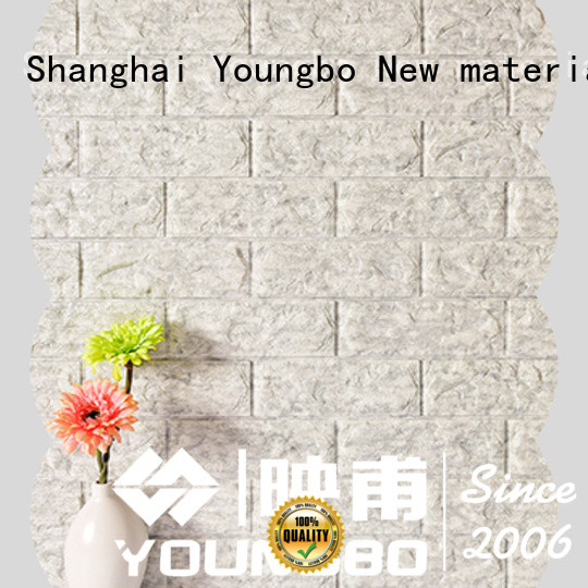 YOUNGBO good design brick look wallpaper for home decoration