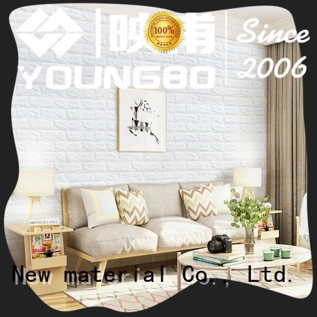 YOUNGBO wallpaper foam brick wallpaper with low price for kid's room