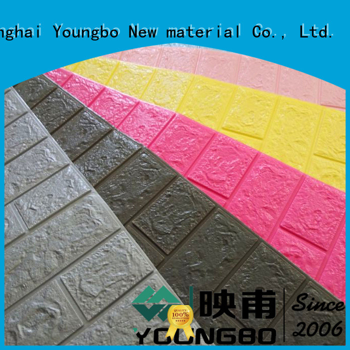 YOUNGBO good design stone look wallpaper with low price for kid's room