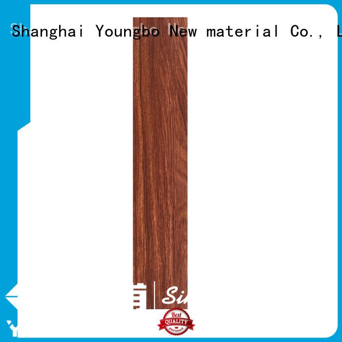 YOUNGBO plank self adhesive vinyl flooring export worldwide for bathroom