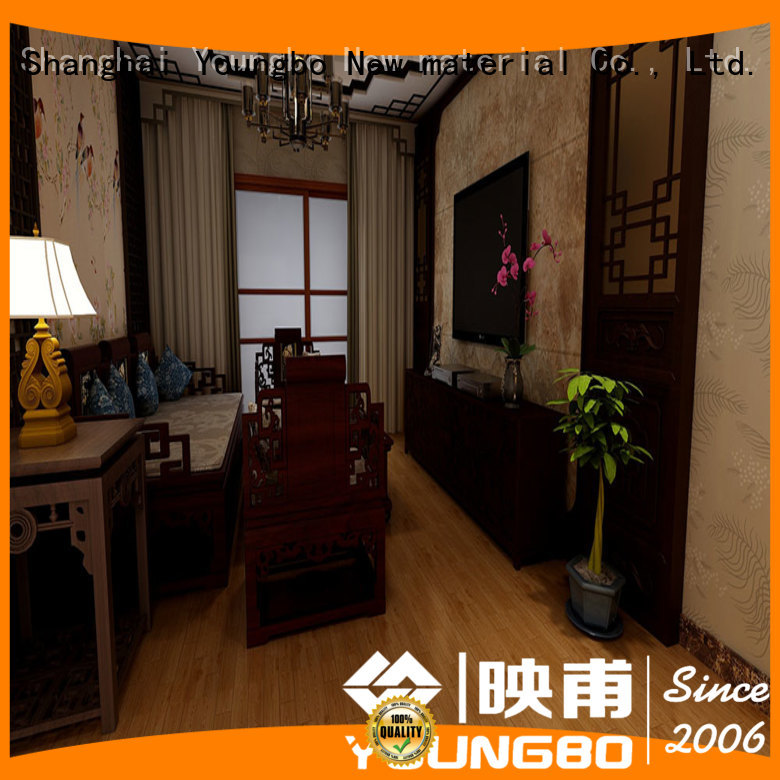 YOUNGBO Eco-friendly vinyl flooring tile chinese manufacturer for school