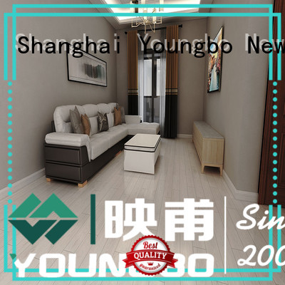 YOUNGBO back vinyl flooring tile widely use for bathroom usage