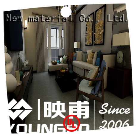 YOUNGBO cheap Stone plastic composite popular for living room