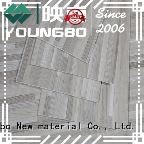 YOUNGBO 25mm interlocking vinyl flooring export worldwide for bathroom usage