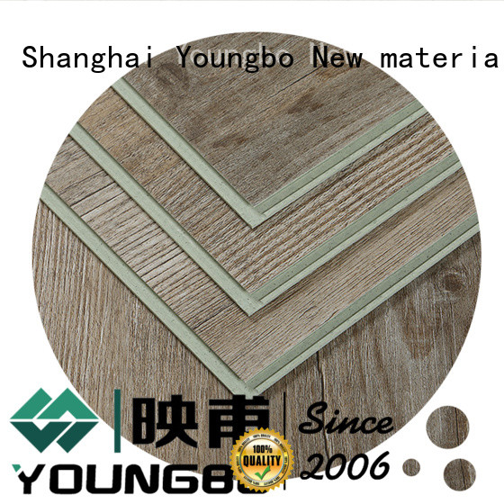 YOUNGBO 42mm interlocking SPC flooring wholesale for dressing room