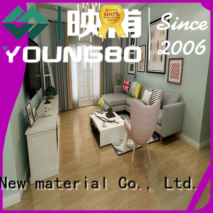 YOUNGBO vinyl Stone plastic composite awarded supplier for living room