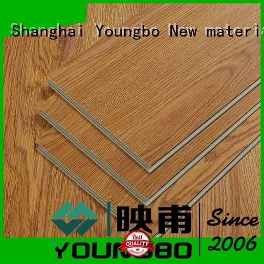 YOUNGBO 5 star reviews locking vinyl plank flooring manufacturer for hospital