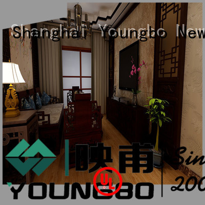 YOUNGBO vinyl plastic flooring manufacturers awarded supplier for living room