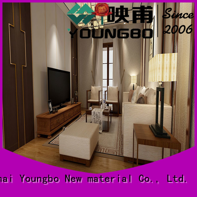 YOUNGBO high quality vinyl floor tile request for quote for commercial