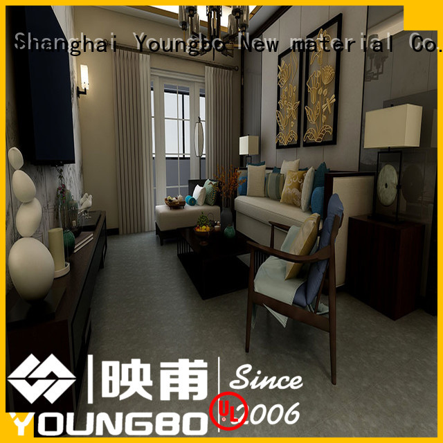 YOUNGBO pvc plastic flooring manufacturers popular for kitchen